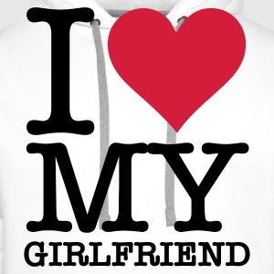 I Love My Girlfriend Bluzy - Bluza męska Premium z kapturem