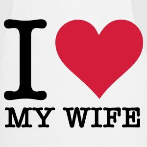I Love My Wife Kookschorten - Keukenschort