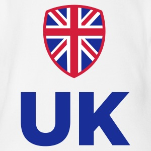 National Storbritannias flagg Babybody - Økologisk kortermet baby-body
