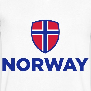 National Flag of Norway T-Shirts - Men's V-Neck T-Shirt