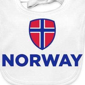 National Flag of Norway Baby Bibs - Baby Organic Bib
