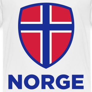 National Flag av Norge Skjorter - Premium T-skjorte for barn