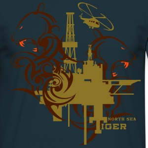 Oil Rig Oil field North Sea Tiger Aberdeen  T-Shirts - Men's T-Shirt