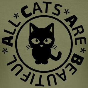 A.C.A.B. Cat T-Shirts - Männer Slim Fit T-Shirt
