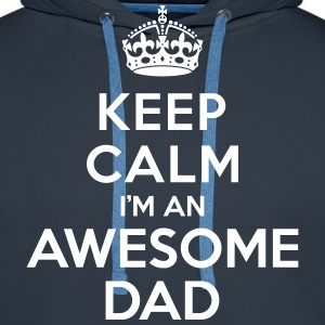 Keep calm Awesome Dad Sweat-shirts - Sweat-shirt à capuche Premium pour hommes