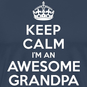 Keep calm Awesome Grandpa Tee shirts - T-shirt Premium Homme