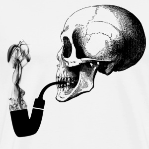Pipe smoking skull - Männer Premium T-Shirt
