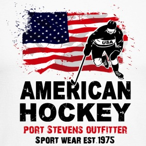 American Ice Hockey - USA Vintage Flag Long sleeve shirts - Men's Long Sleeve Baseball T-Shirt