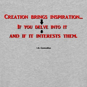 Creation brings inspiration... - Kinderen Premium shirt met lange mouwen