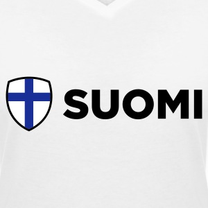 National Flag of Finland T-Shirts - Women's V-Neck T-Shirt