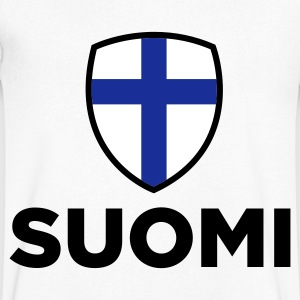 National Flag Finland T-shirts - Herre T-shirt med V-udskæring
