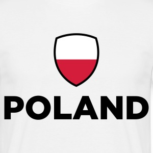Nationell polsk flagg T-shirts - T-shirt herr