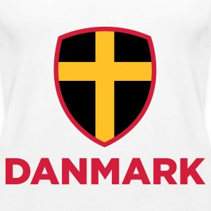 National flag of Denmark Tops - Women's Premium Tank Top