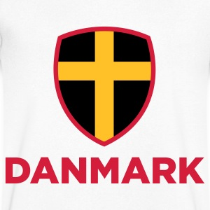 National flag of Denmark T-Shirts - Men's V-Neck T-Shirt