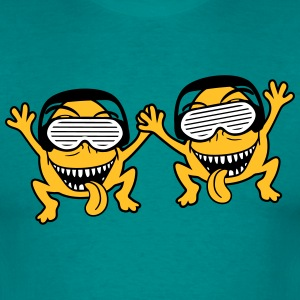 party friends Team duo monster dj music party head T-Shirts - Men's T-Shirt