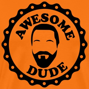 Awesome Dude Vollbart T-Shirts - Männer Premium T-Shirt