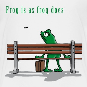 frog_is_as_frog_does_112015_c T-Shirts - Kinder Premium T-Shirt