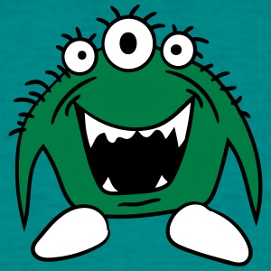 Grøn Funny lille monster T-shirts - Herre-T-shirt
