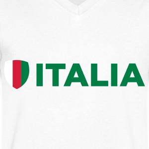 National flag of Italy T-Shirts - Men's V-Neck T-Shirt