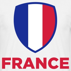 Nationale flag Frankfreich T-shirts - Herre-T-shirt