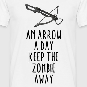 An arrow a day keep the zombie away - Männer T-Shirt