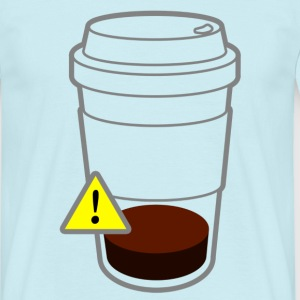 Warning coffee - Männer T-Shirt