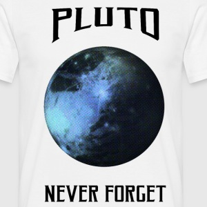 Pluto - never forget - Männer T-Shirt