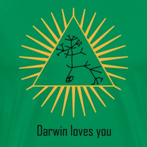 Darwin loves you - Camiseta premium hombre