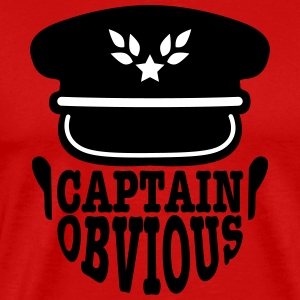 captain obvious T-shirts - Mannen Premium T-shirt