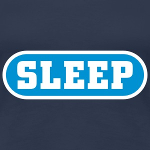 Sleep Button Camisetas - Camiseta premium mujer