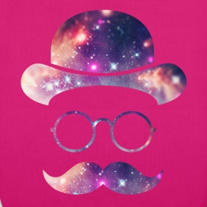 Retro Face with Moustache & Glasses / Universe - EarthPositive Tote Bag