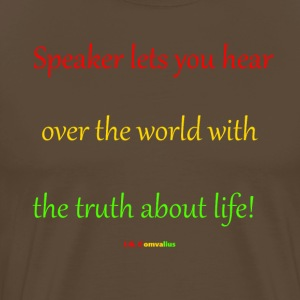 Speaker lets you hear - Mannen Premium T-shirt