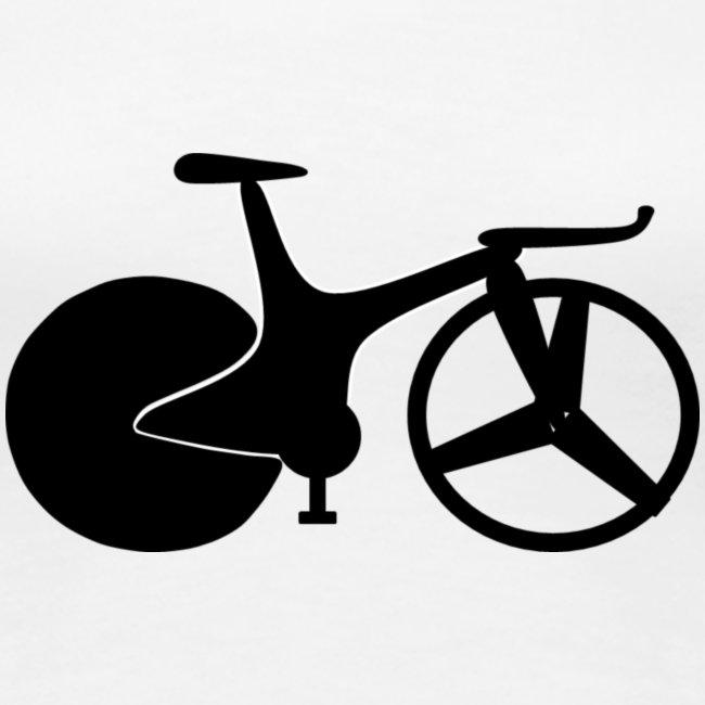 Women track bike tee 1990s