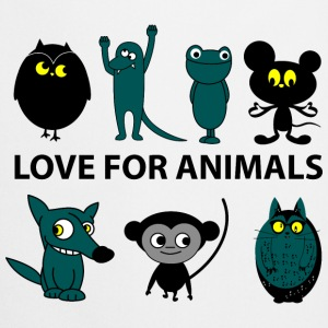 love for animals Fartuchy - Fartuch kuchenny