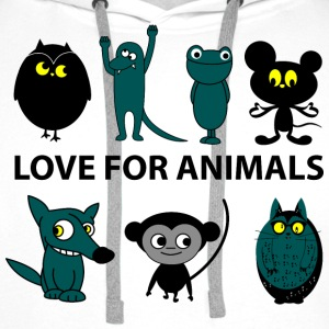 love for animals Hoodies & Sweatshirts - Men's Premium Hoodie