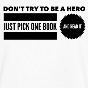 Pick one book and read it Tee shirts - T-shirt Homme col V