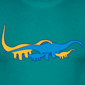langhals dinosaur brontosaurus family baby child m T-Shirts - Men's T-Shirt