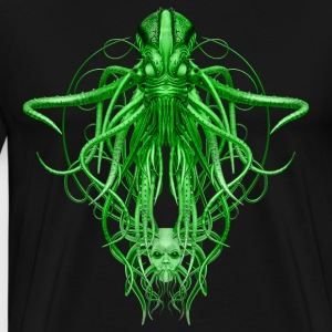 Cthulhu No.4 in Green Men's Premium T-Shirt - T-shirt Premium Homme