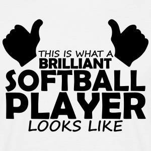 brilliant softball player T-Shirts - Men's T-Shirt