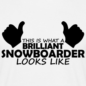 brilliant snowboarder T-Shirts - Men's T-Shirt