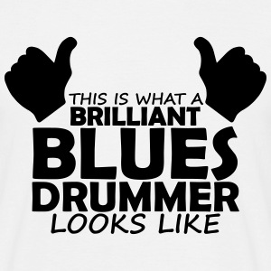 brilliant blues drummer T-Shirts - Men's T-Shirt