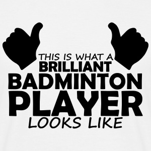 brilliant badminton player T-Shirts - Men's T-Shirt