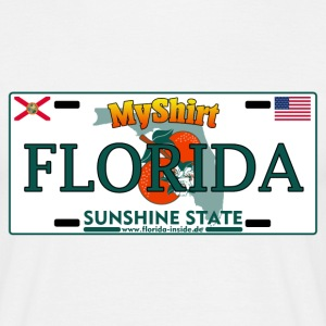 Florida Fan Shirt - Licence Plate Edition - Männer T-Shirt