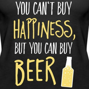 Cant buy happiness, but beer non può comprare la felicità, ma birra Top - Canotta premium da donna