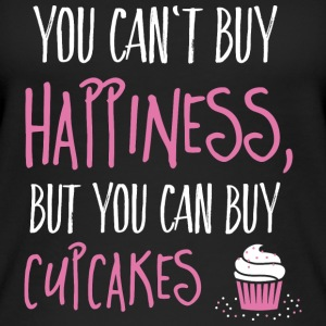 Cant buy happiness, but cupcakes kan ikke kjøpe lykke, men cupcakes Topper - Øko-singlet for kvinner