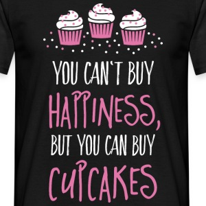 Cant buy happiness, but cupcakes kan ikke købe lykke, men cupcakes T-shirts - Herre-T-shirt