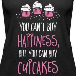 Cant buy happiness, but cupcakes kan ikke købe lykke, men cupcakes Toppe - Dame Premium tanktop