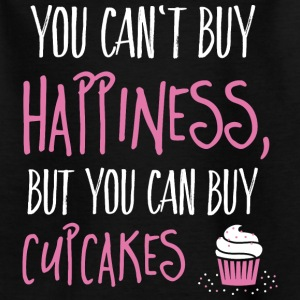 Cant buy happiness, but cupcakes kan ikke købe lykke, men cupcakes T-shirts - Teenager-T-shirt