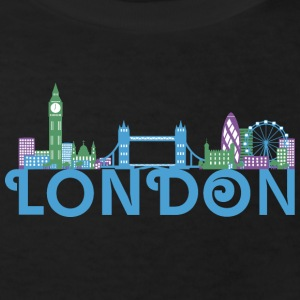 Skyline von London T-Shirts - Kinder Bio-T-Shirt