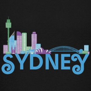 Skyline of Sydney Shirts - Teenage Premium T-Shirt